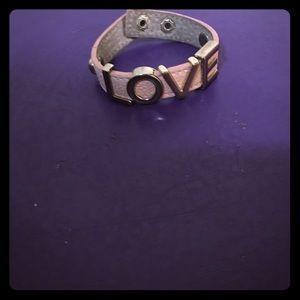 LOVE Leather snap bracelet